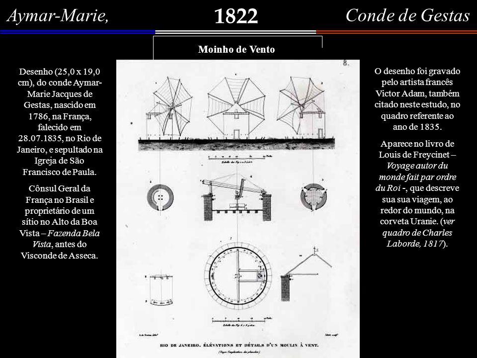 Rio de Janeiro, élevations et détails d´um moulin à vent. N.º 8