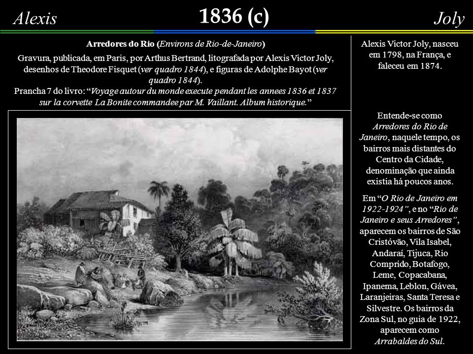 1836 (c) Alexis Joly Arredores do Rio (Environs de Rio-de-Janeiro)