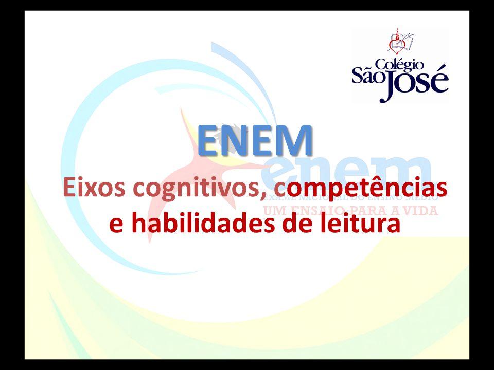 ENEM Eixos cognitivos, competências e habilidades de leitura