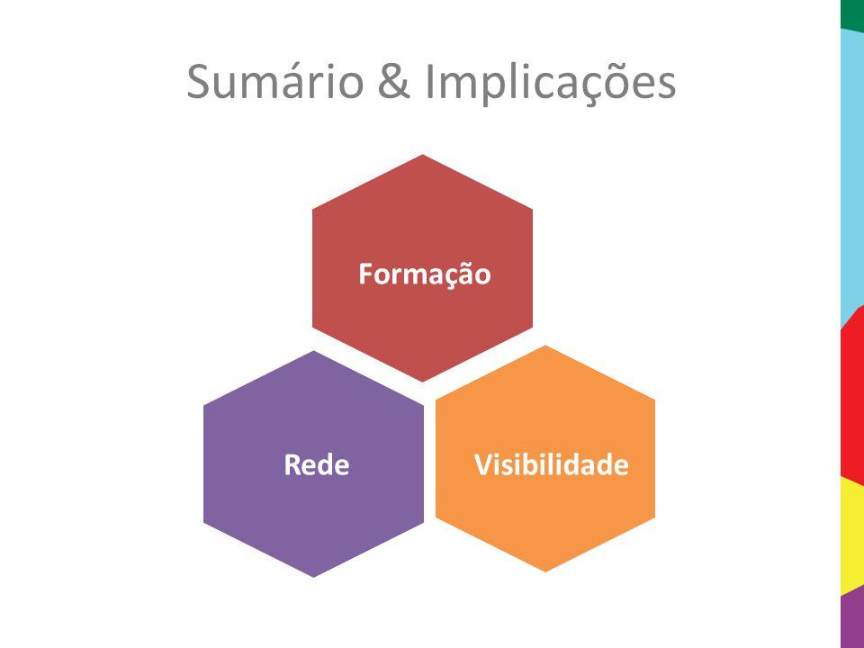 Sumário & Implicações Formação Rede Visibilidade