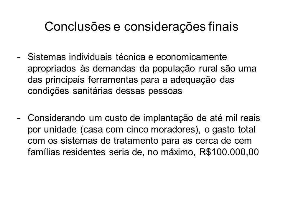 Conclusões e considerações finais
