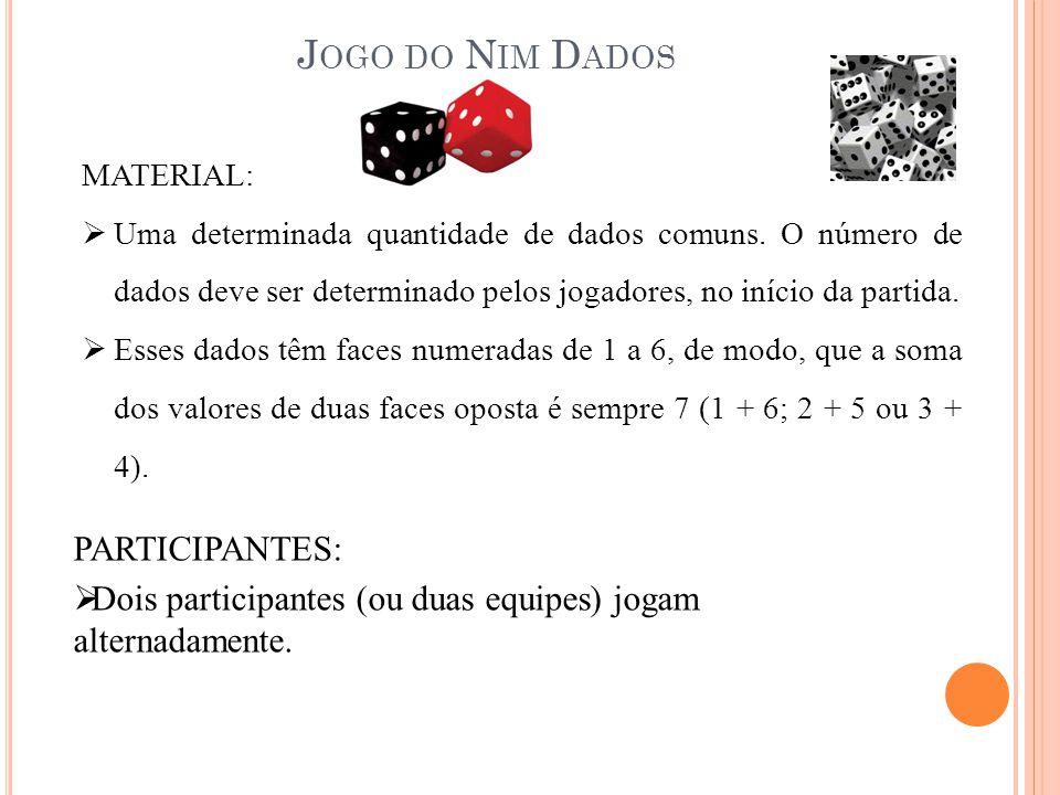 Jogo do Nim Dados PARTICIPANTES: