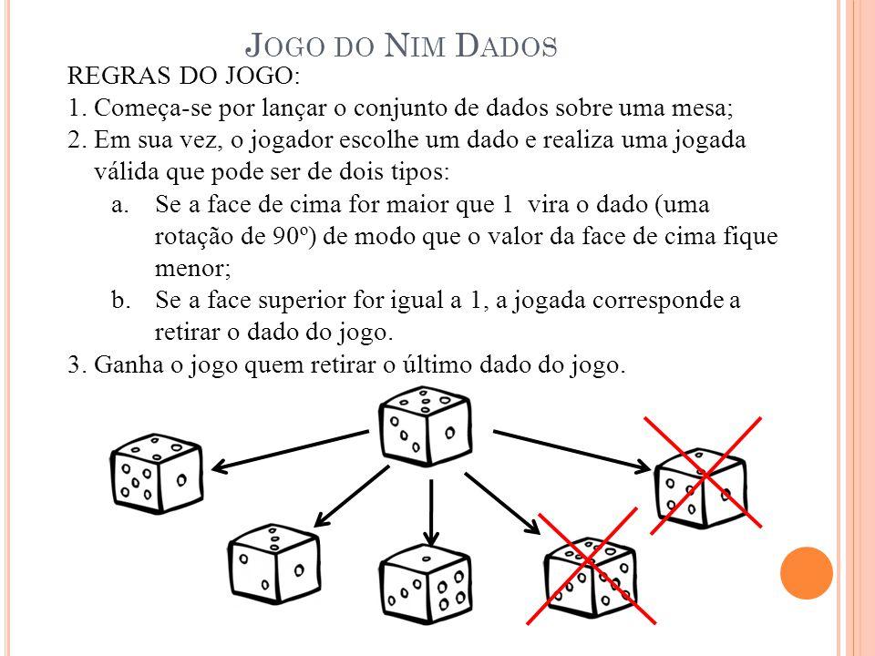 Jogo do Nim Dados REGRAS DO JOGO: