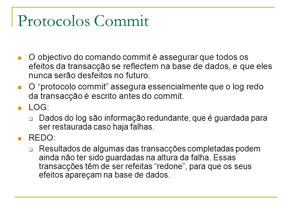 Protocolos Commit