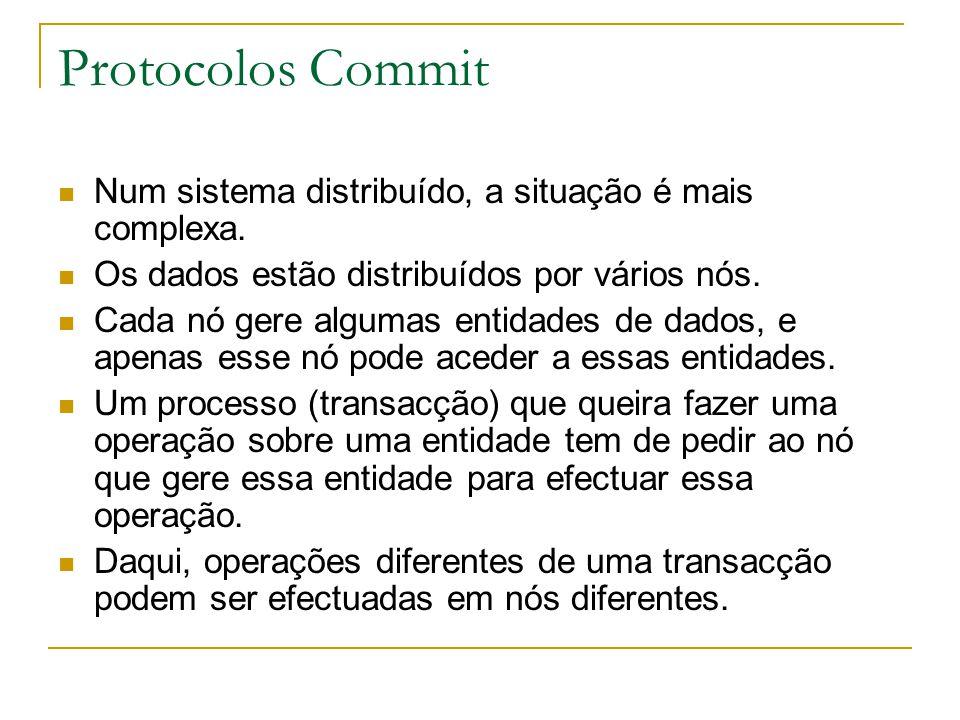 Protocolos Commit Num sistema distribuído, a situação é mais complexa.