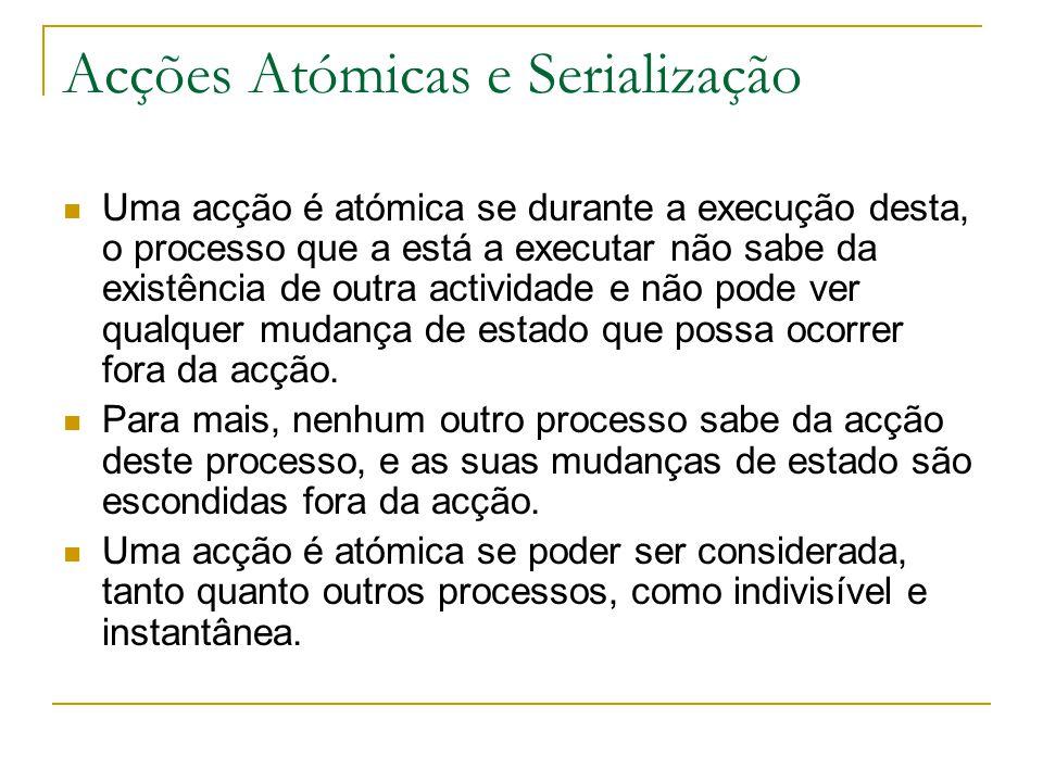 Acções Atómicas e Serialização