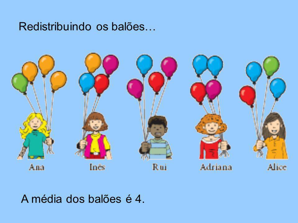 Redistribuindo os balões…