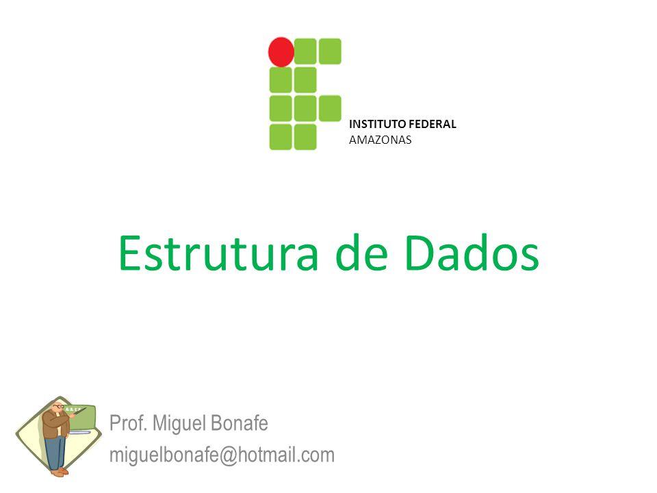 Estrutura de Dados Prof. Miguel Bonafe miguelbonafe@hotmail.com