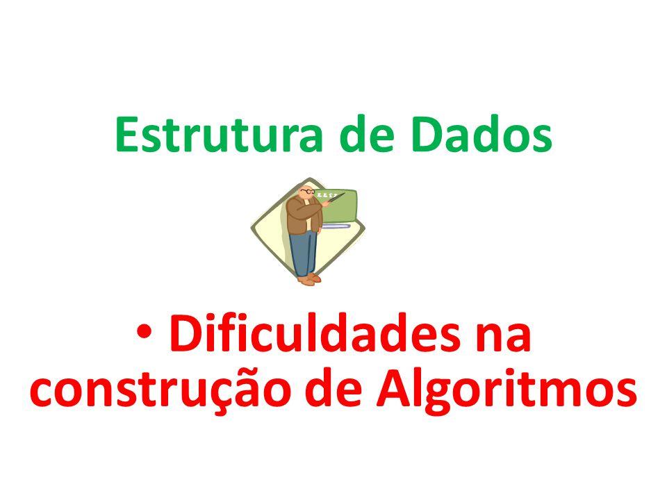 Dificuldades na construção de Algoritmos