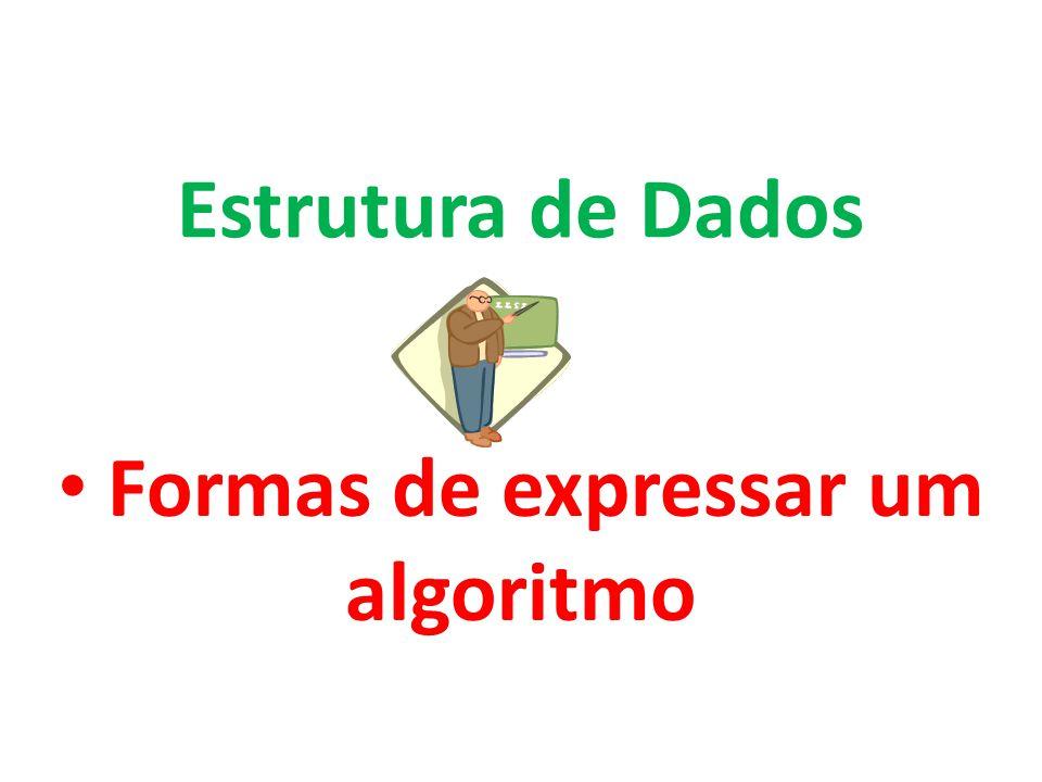 Formas de expressar um algoritmo