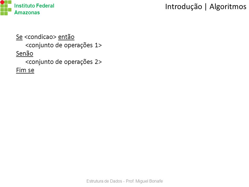Estrutura de Dados - Prof. Miguel Bonafe
