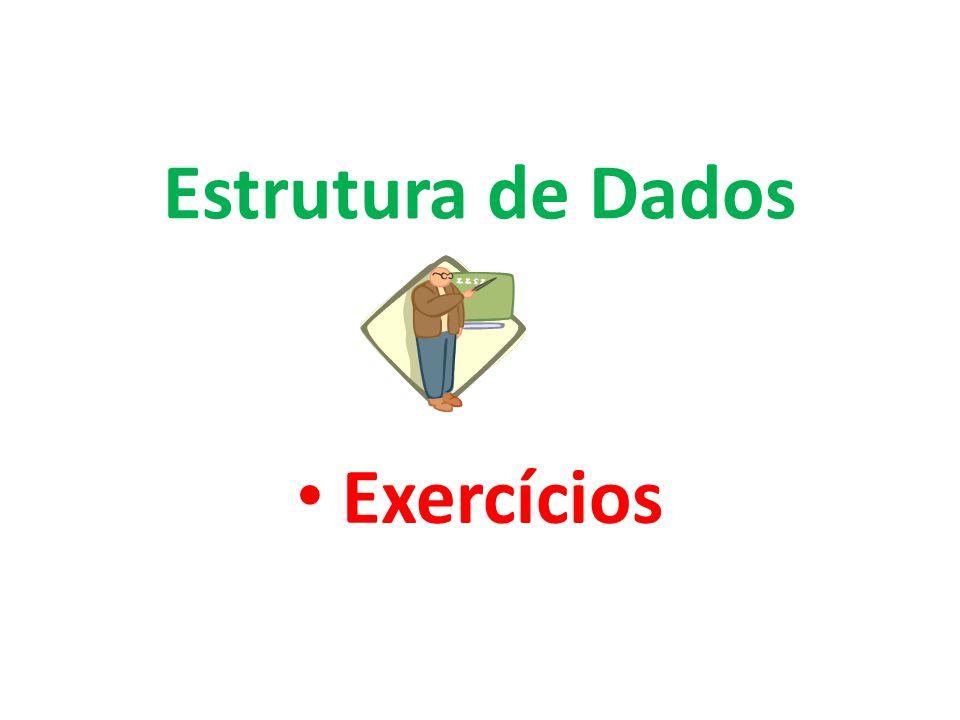 Estrutura de Dados Exercícios