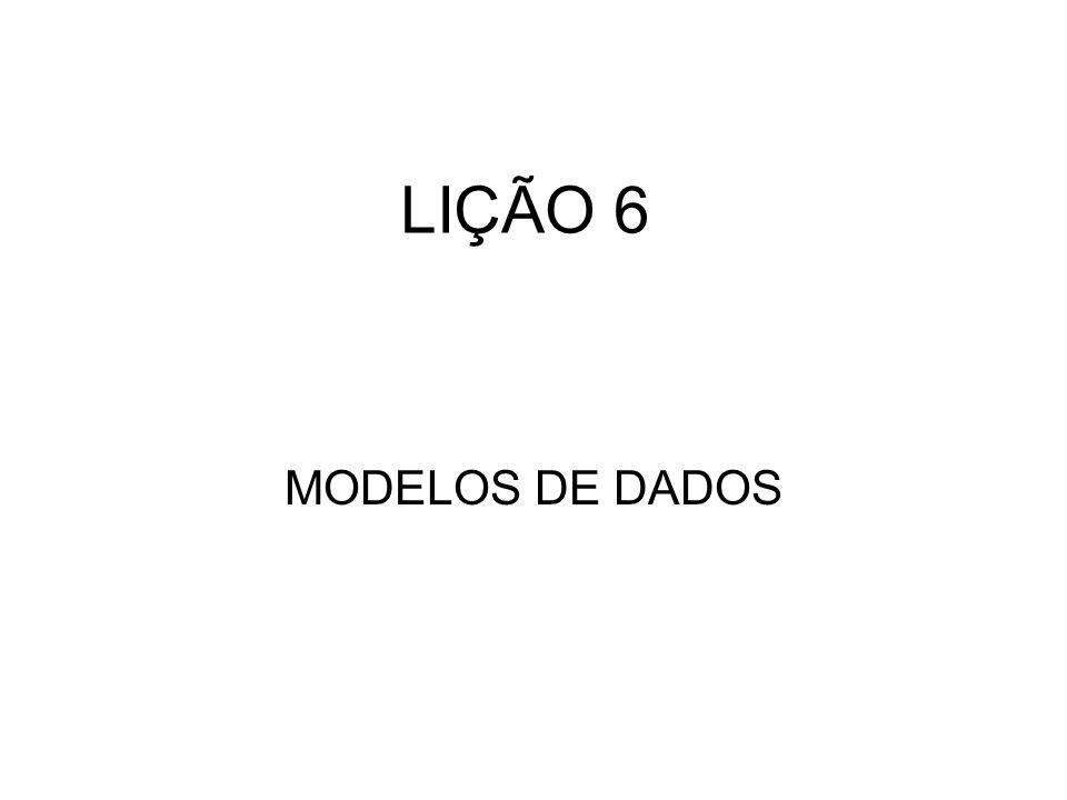 LIÇÃO 6 MODELOS DE DADOS