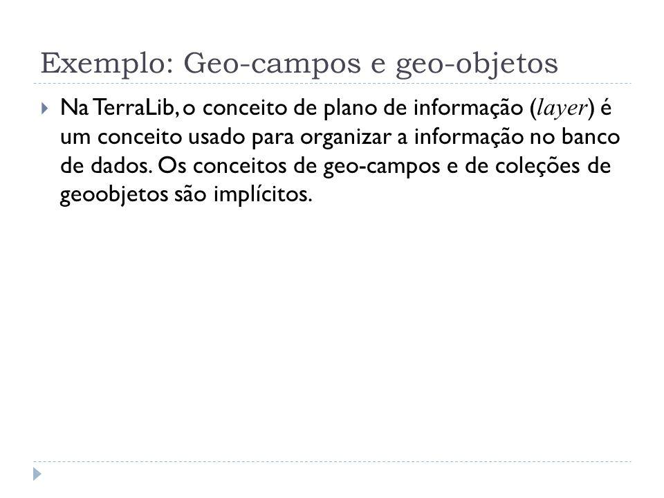 Exemplo: Geo-campos e geo-objetos