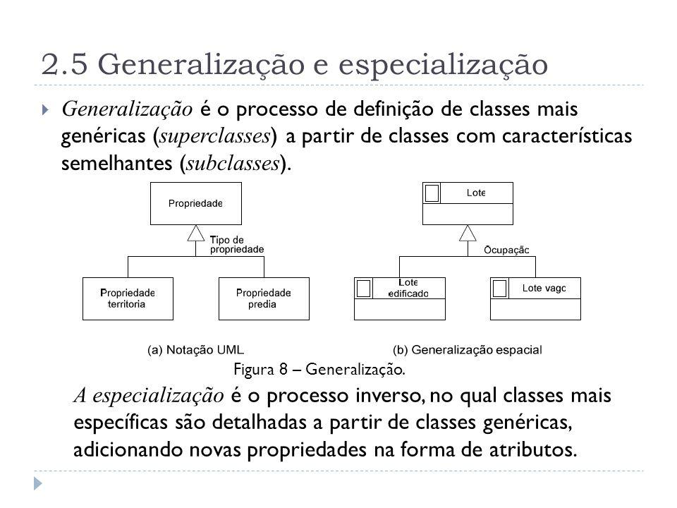 2.5 Generalização e especialização