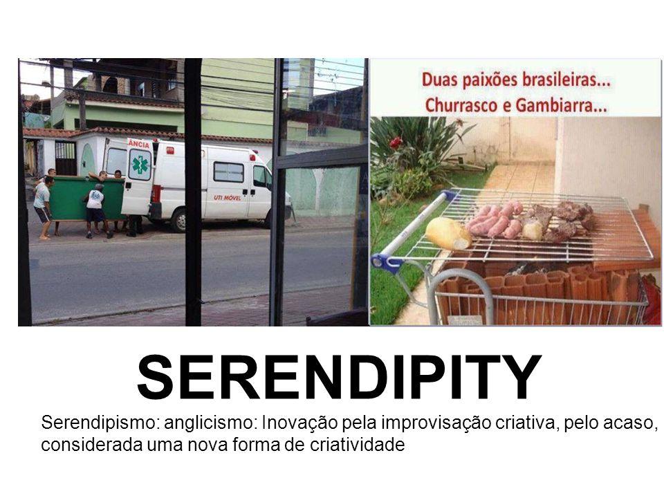 SERENDIPITY Serendipismo: anglicismo: Inovação pela improvisação criativa, pelo acaso, considerada uma nova forma de criatividade.