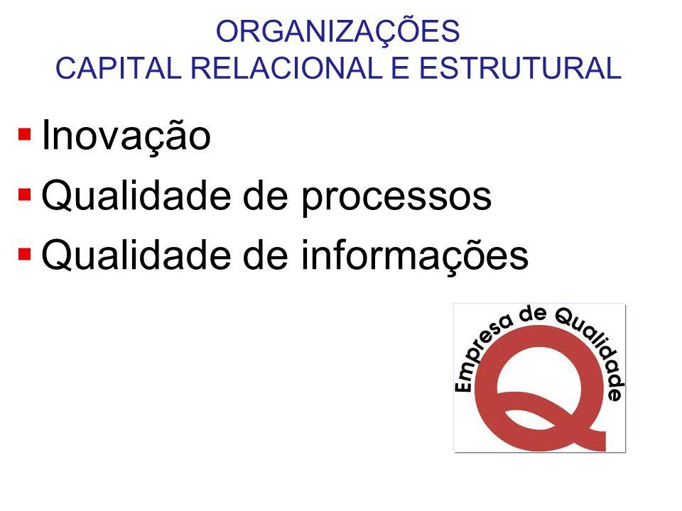 ORGANIZAÇÕES CAPITAL RELACIONAL E ESTRUTURAL