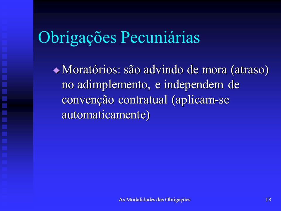 Obrigações Pecuniárias