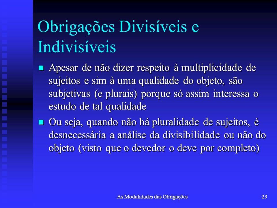Obrigações Divisíveis e Indivisíveis
