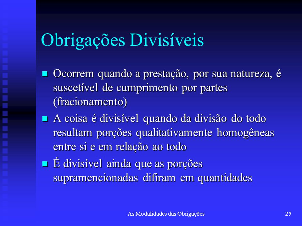 Obrigações Divisíveis