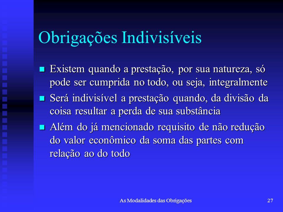 Obrigações Indivisíveis