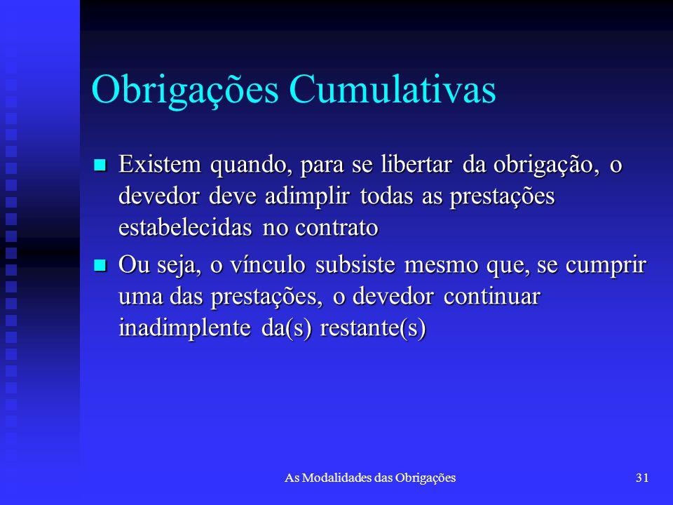 Obrigações Cumulativas