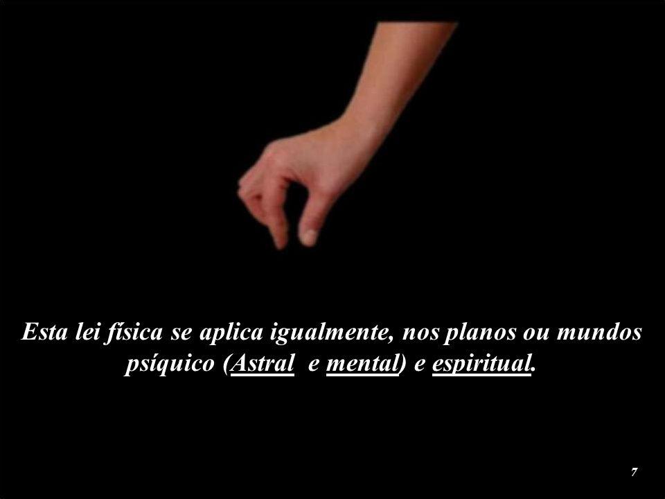 Esta lei física se aplica igualmente, nos planos ou mundos psíquico (Astral e mental) e espiritual.