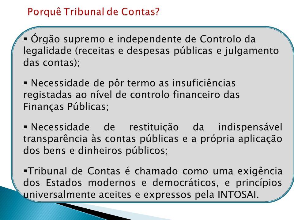 Porquê Tribunal de Contas