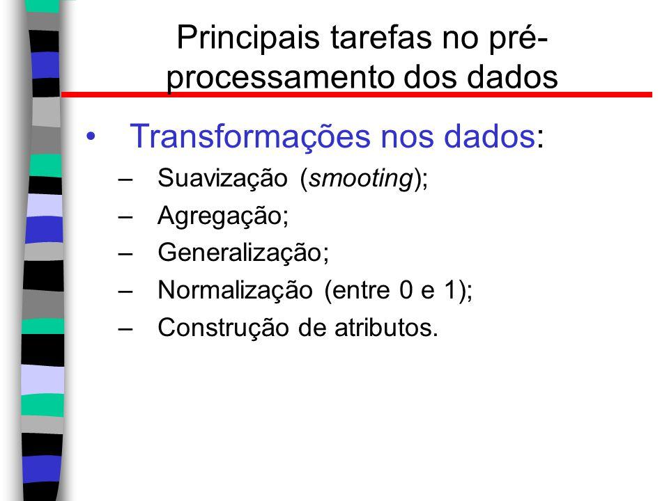 Principais tarefas no pré-processamento dos dados