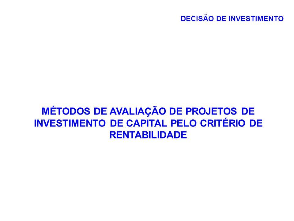 DECISÃO DE INVESTIMENTO