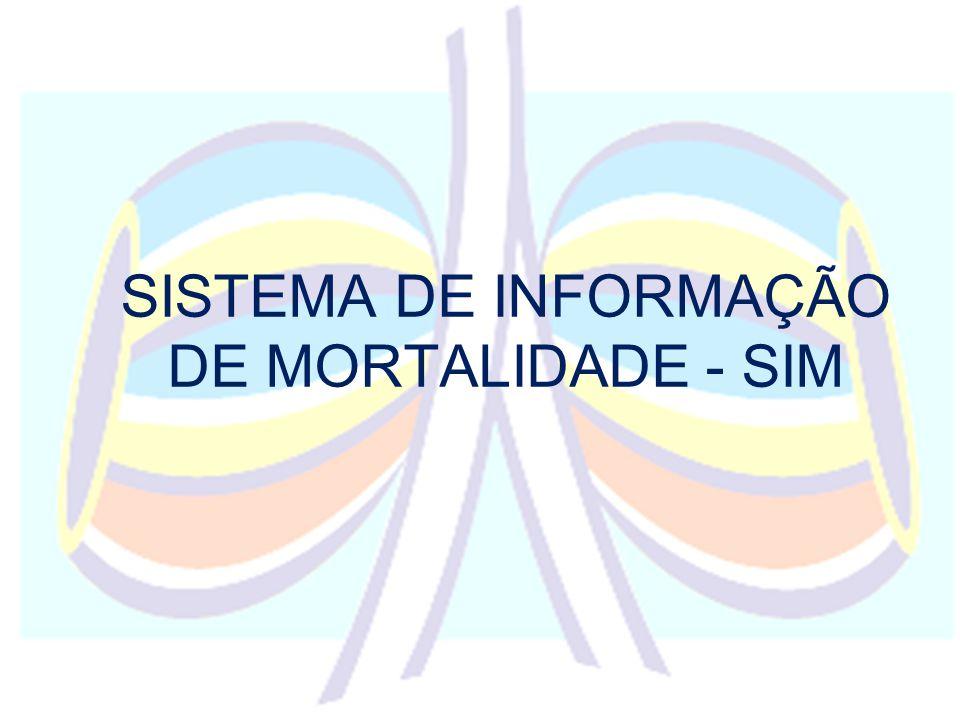 SISTEMA DE INFORMAÇÃO DE MORTALIDADE - SIM