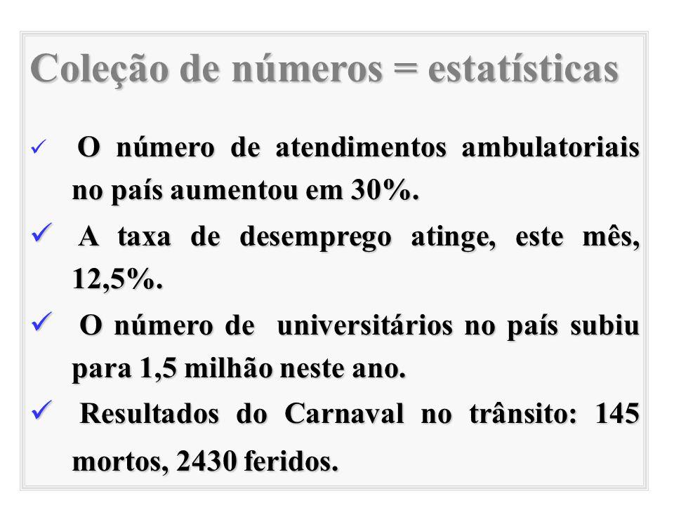 Coleção de números = estatísticas