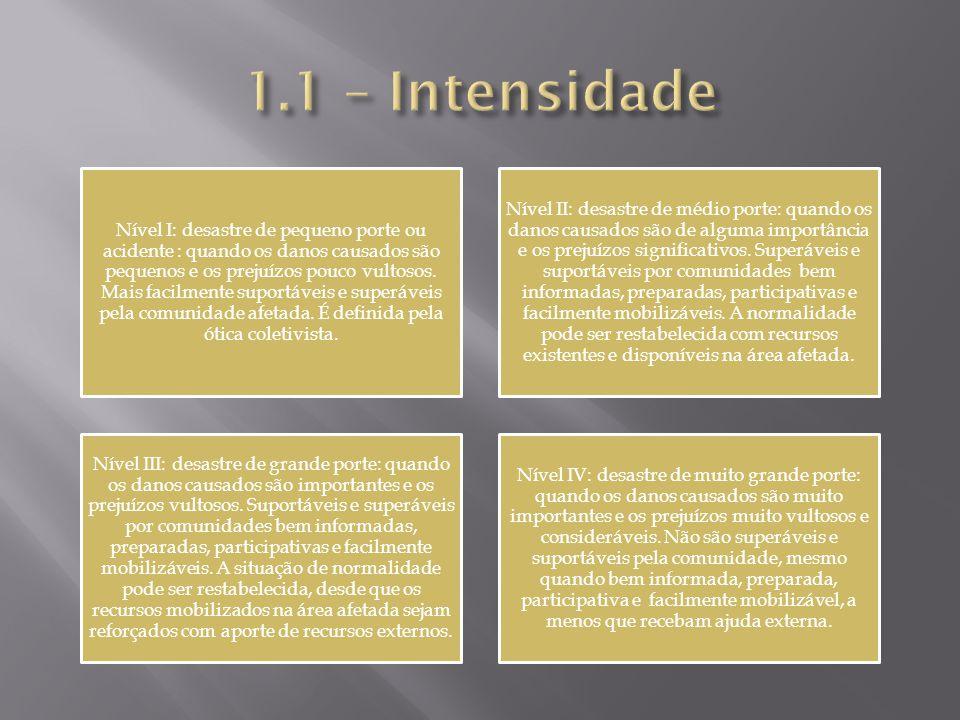 1.1 – Intensidade