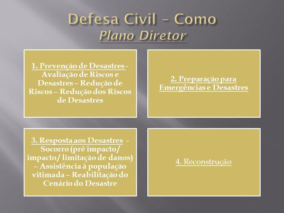 Defesa Civil – Como Plano Diretor