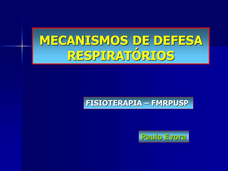 MECANISMOS DE DEFESA RESPIRATÓRIOS