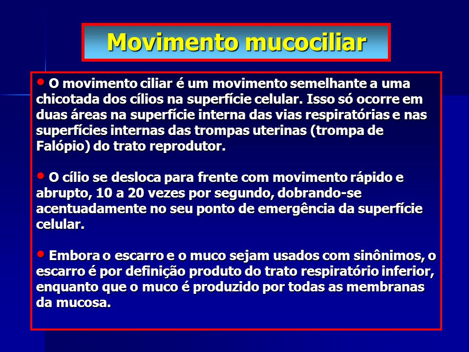 Movimento mucociliar