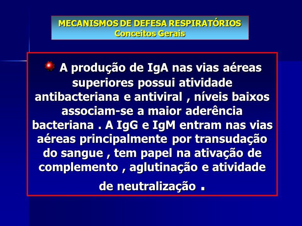 MECANISMOS DE DEFESA RESPIRATÓRIOS Conceitos Gerais