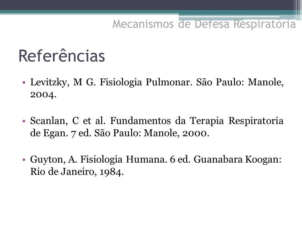 Referências Mecanismos de Defesa Respiratória