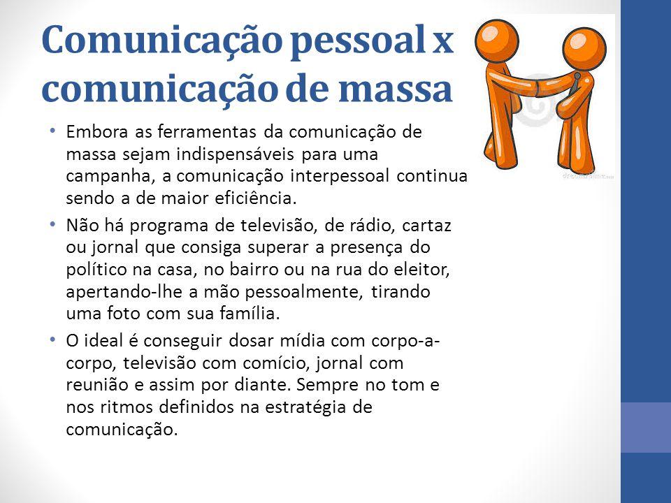 Comunicação pessoal x comunicação de massa