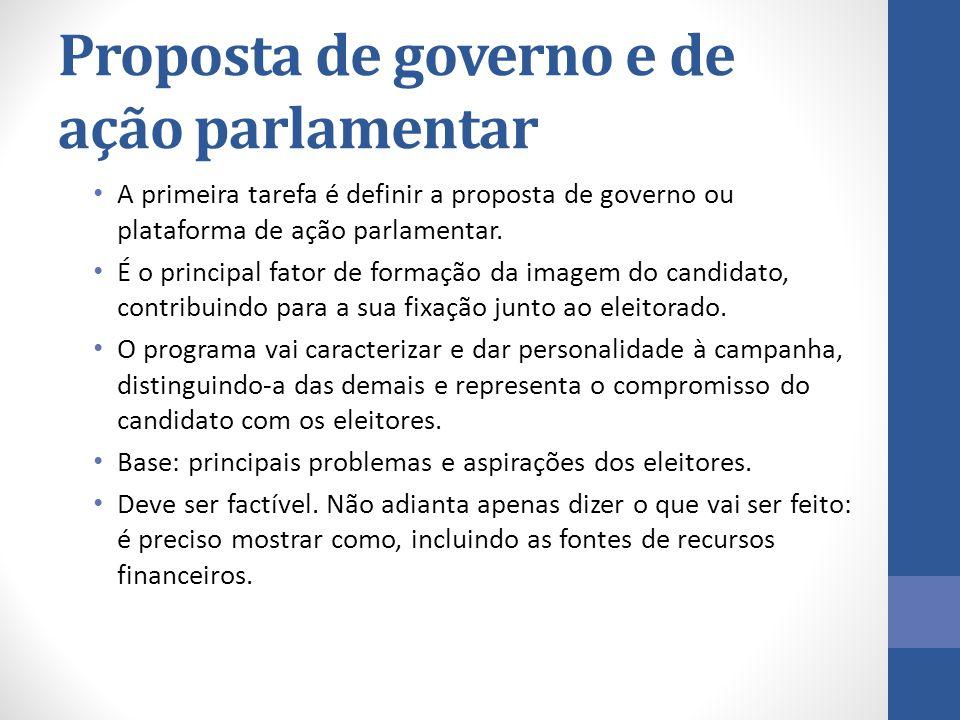 Proposta de governo e de ação parlamentar