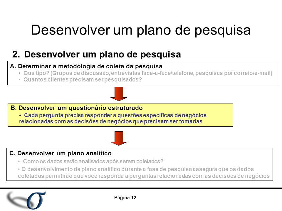 Desenvolver um plano de pesquisa