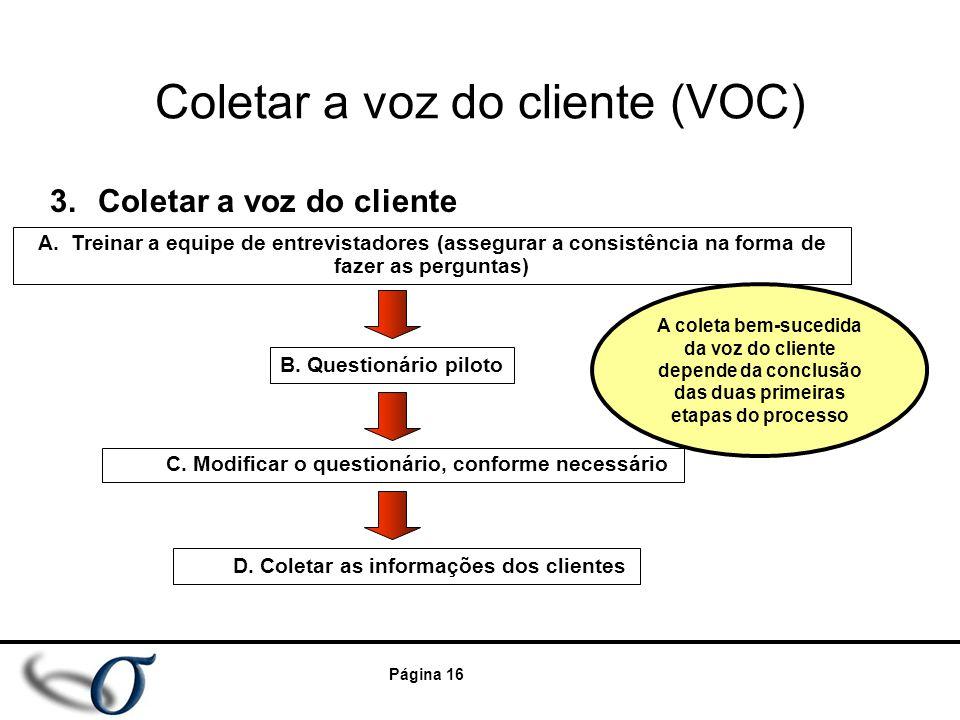 Coletar a voz do cliente (VOC)