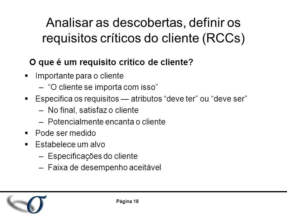 O que é um requisito crítico de cliente