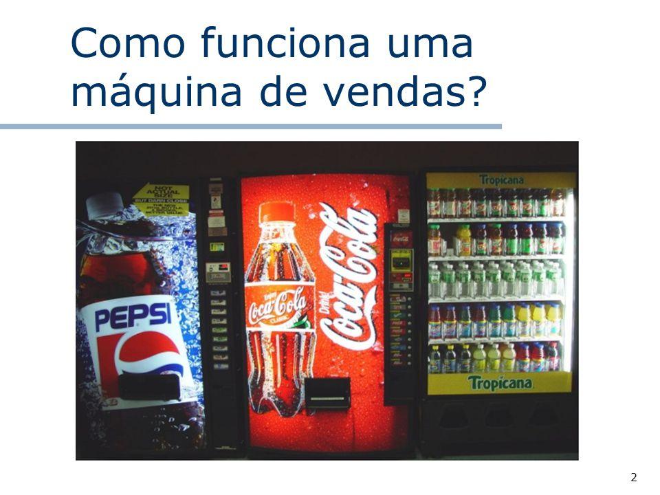 Como funciona uma máquina de vendas