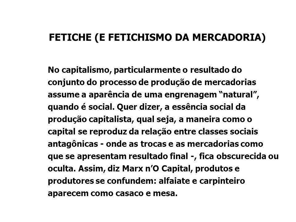 FETICHE (E FETICHISMO DA MERCADORIA)
