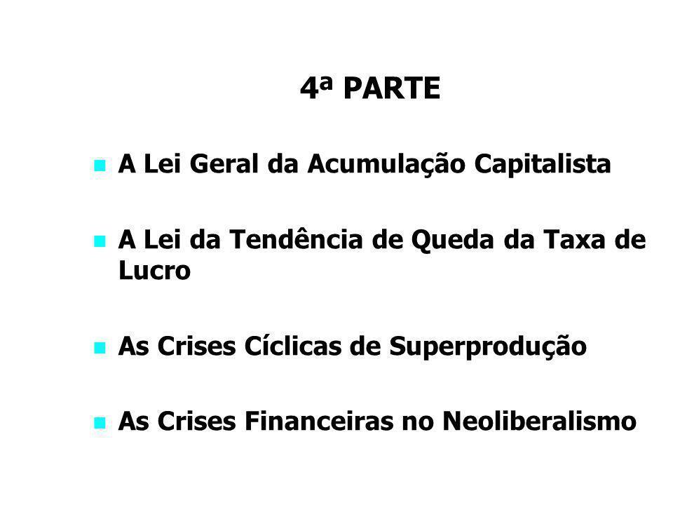 4ª PARTE A Lei Geral da Acumulação Capitalista