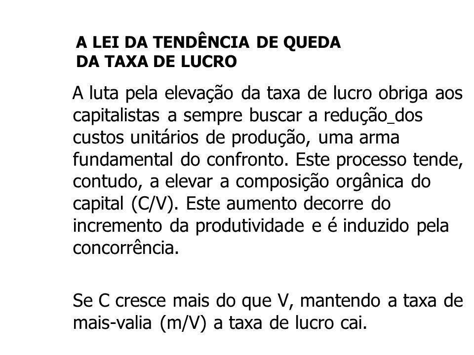 A LEI DA TENDÊNCIA DE QUEDA DA TAXA DE LUCRO