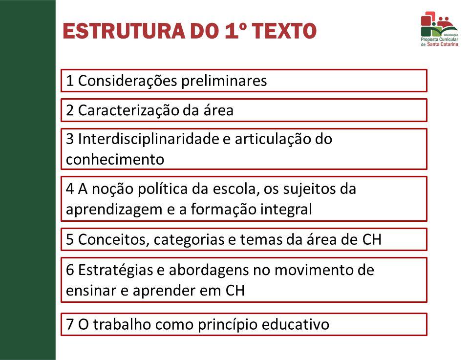 ESTRUTURA DO 1º TEXTO 1 Considerações preliminares