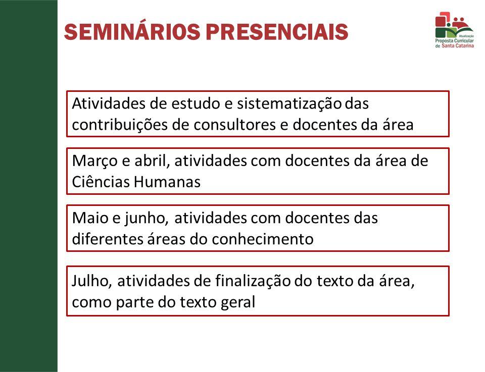 SEMINÁRIOS PRESENCIAIS