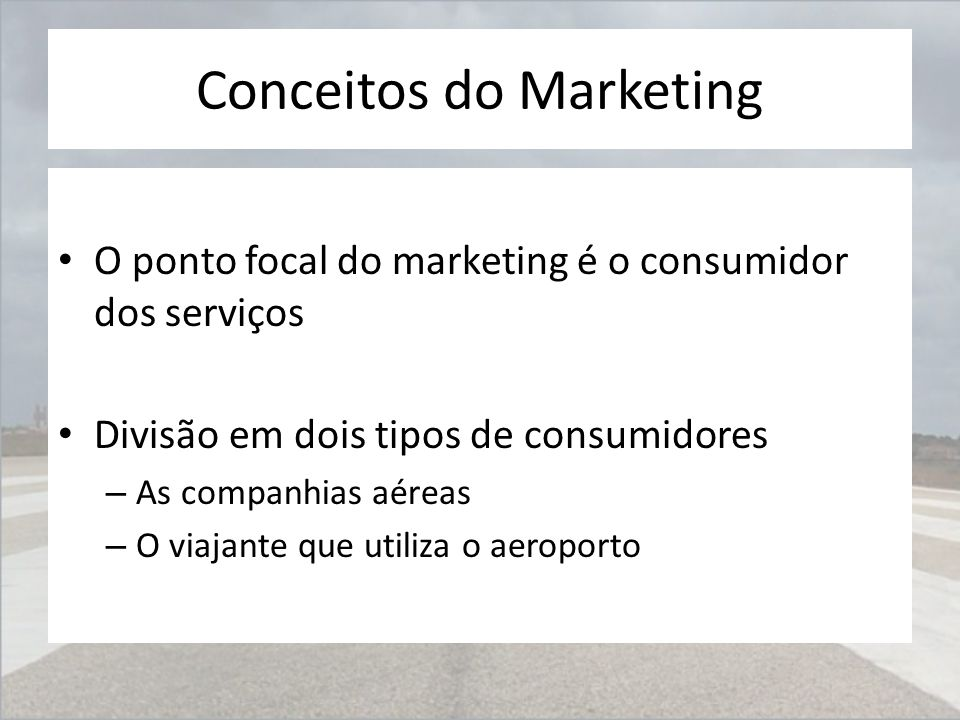 Conceitos do Marketing